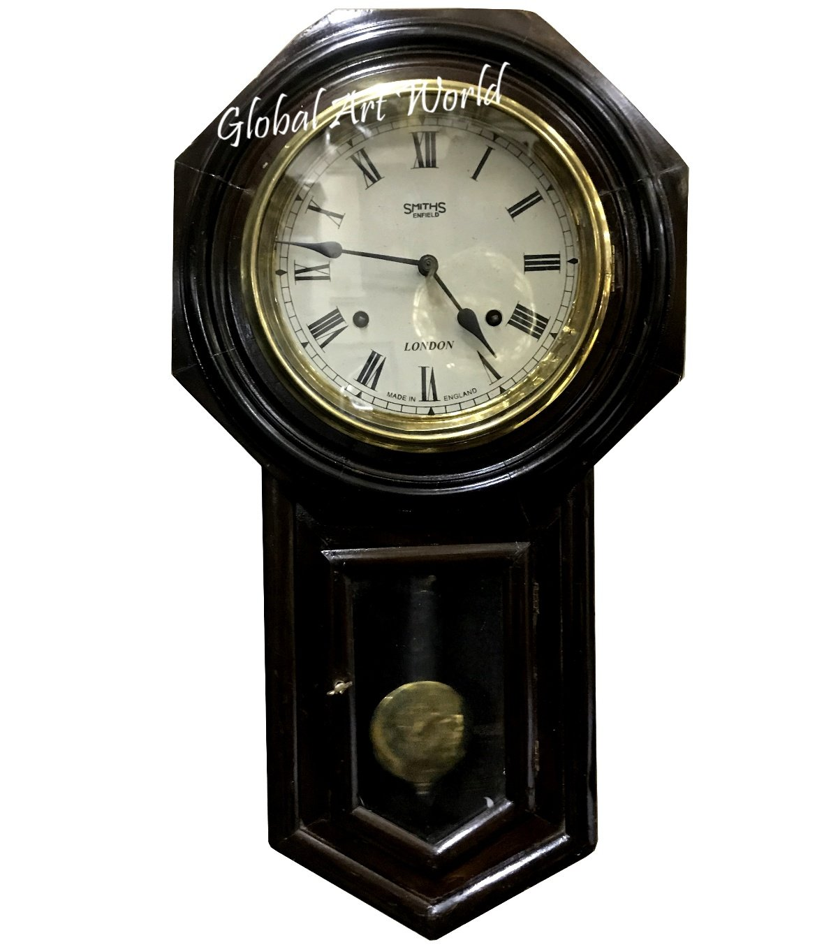 Antiques World Vintage Theme Stylized Look Antique Old Time Piece Dark Wooden Style With Tradition Smiths Enfield Pendulum Wall Clocks And Clock AWUSAHB 0243