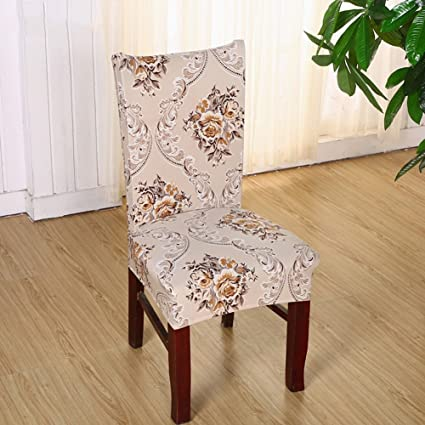 Eleoption High Back Chair Cover Replacement For Dining Room Universal Stretch Elastic Protector Seat