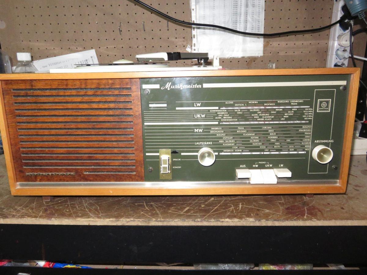 ANTIGUA RADIO TOCADISCOS HORNYPHON MUSIKMEISTER WH345A 1965 ...