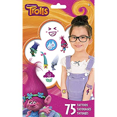 Trends International Trolls Tattoo Bag 75 Ct: Toys & Games