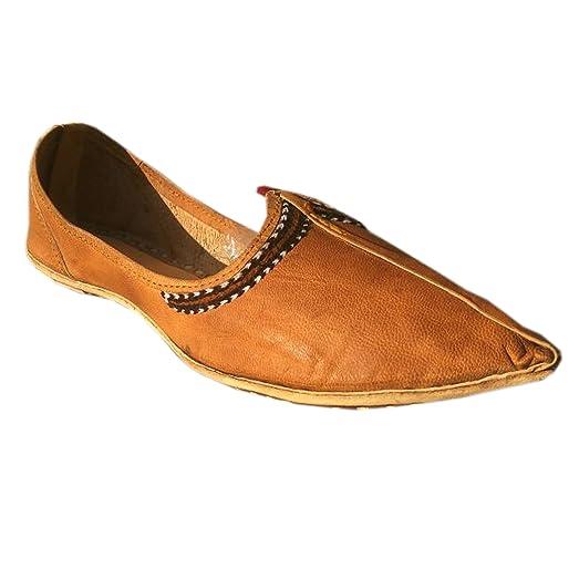 "Men's Leather Slip-On ""Deserto"" Shoes Premium soft Comfortable Loafer Indian Ethnic Juti"