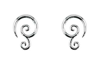 7f354e7511ada Forbidden Body Jewelry Pair of 6G-14G Surgical Steel Solid Tribal Design  Taper Earrings