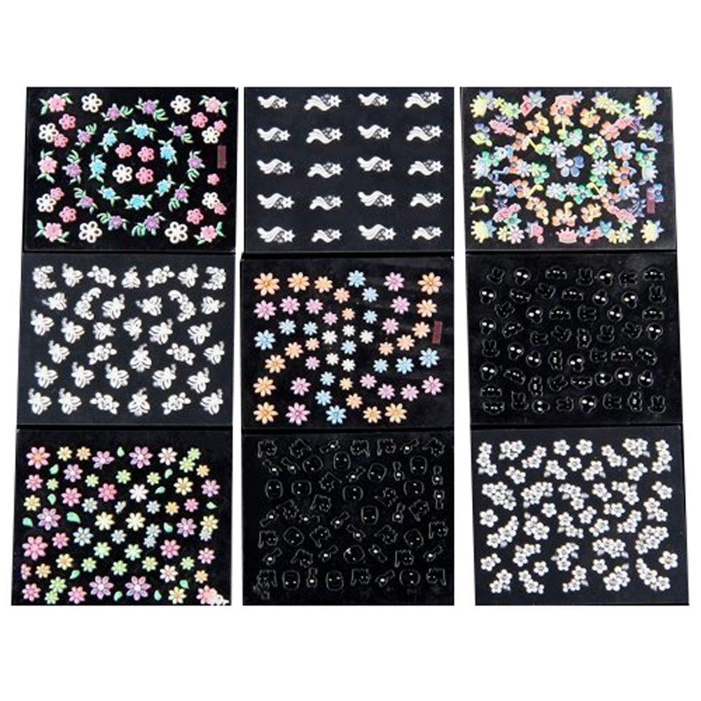 Demarkt 50 Pièce Feuille De Sticker Multicolore Nail Art Manucure Autocollants Ongles Autocollants Conseils D'art