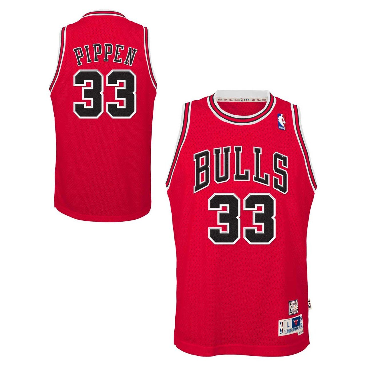 876036308b97 Amazon.com   Genuine Stuff Scottie Pippen Chicago Bulls Youth NBA Soul  Swingman Jersey - Red