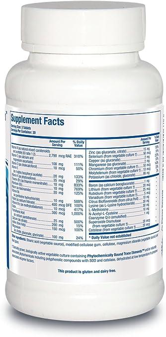 Amazon.com: Biotics investigación Bio-Multi Plus (sin hierro ...