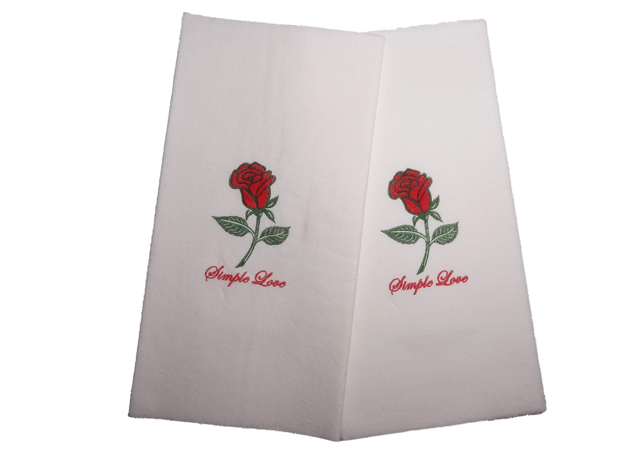 ROSE Premium Dinner Napkins - Towels for Kitchen, Parties, Dinner and events - 75 count.