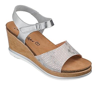 6105 SilberSchuhe 801 21 Damen Sandale Comfort Cosmos 4jLRA35