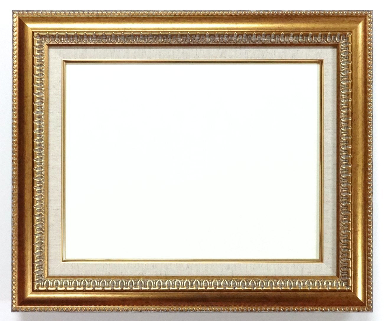 大額 油彩用額縁 9631 アクリル仕様 壁用フック付 (F10, ゴールド) B01MYM1TBQ F10|ゴールド ゴールド F10
