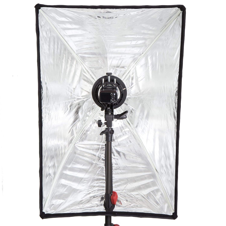 para Uso con Godox//Lencarta Studio Flash 40 x 140 cm con difusor Fotograf/ía Vertical Mecanismo Plegable de Paraguas Tira de fotograf/ía Softbox