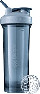 BlenderBottle Pro Series Shaker Bottle, 32-Ounce, Pebble Grey