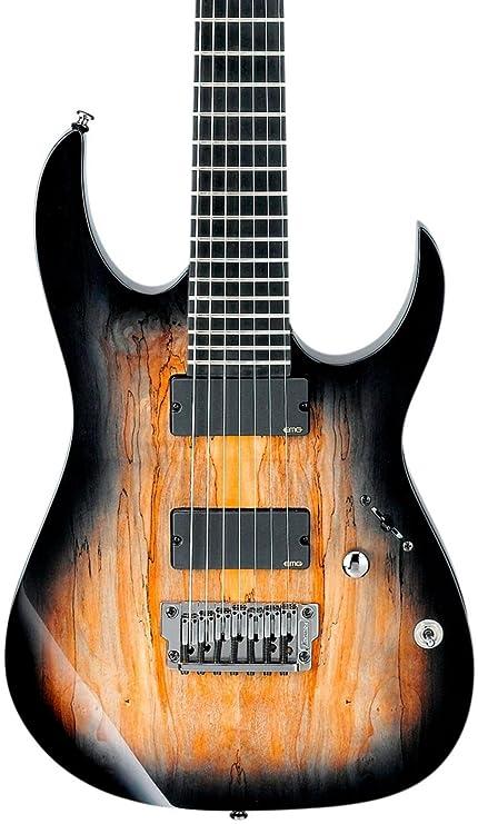 Ibanez hierro etiqueta RG serie rgix27fesm (7 cuerdas Guitarra eléctrica de niebla color negro teñido