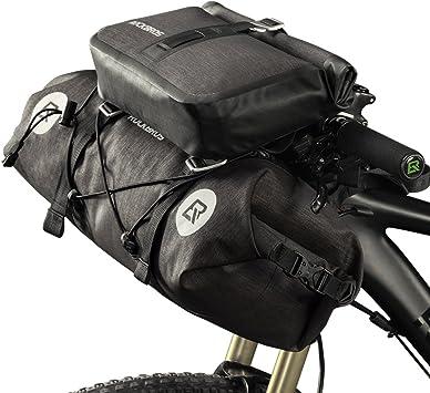 ROCKBROS Bolsas de Bicicleta 100% Impermeables, 2 alforjas para ...