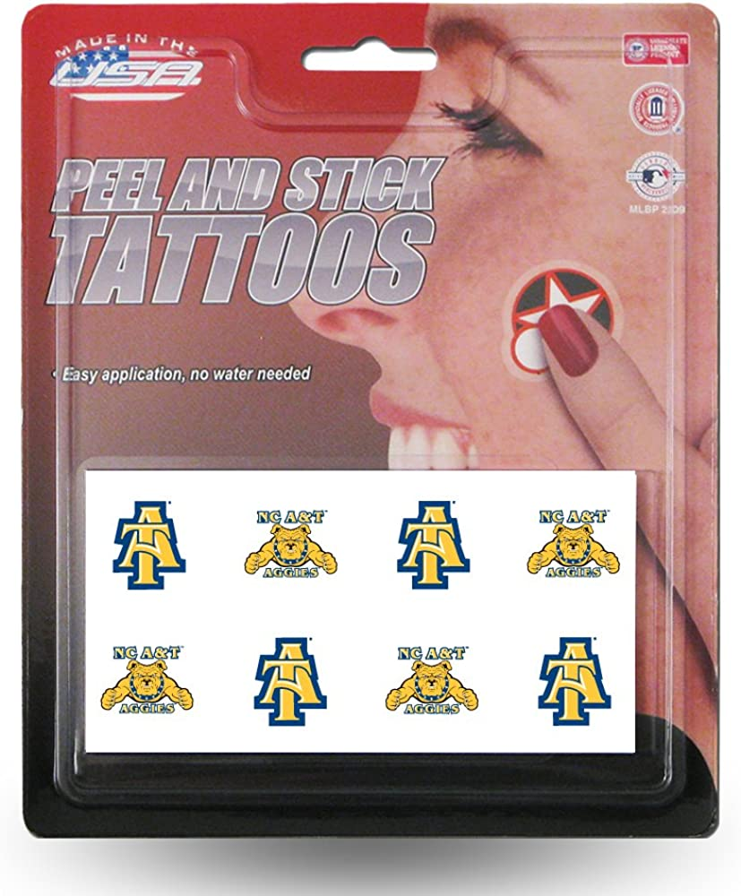 Rico Industries NCAA Face Tattoos 8-Piece Set