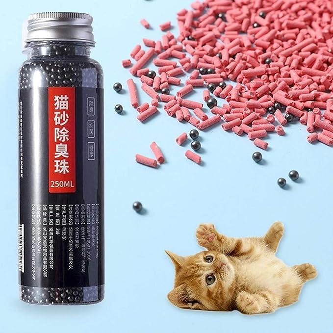 WARMWORD Desodorante De Arena para Gatos, Adsorción De Carbón ...