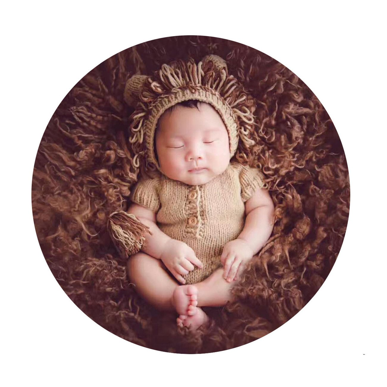 M&G House Newborn Photography Props Lion Costume, Baby Photo Shoot Accessories