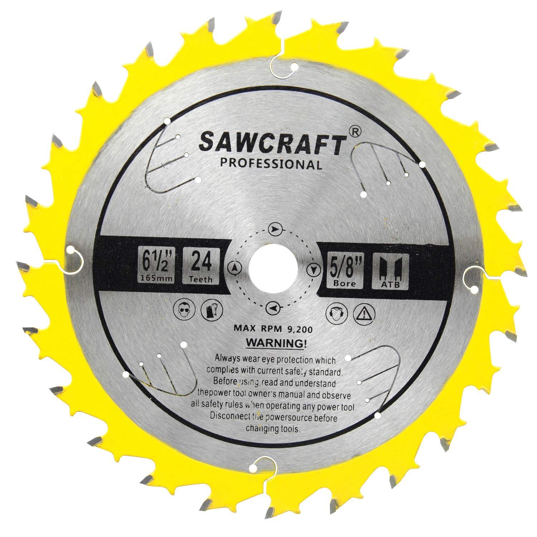 Disco Sierra SAWCRAFT 6 1/2 x 24T ATB Framing con 5 / 8i A