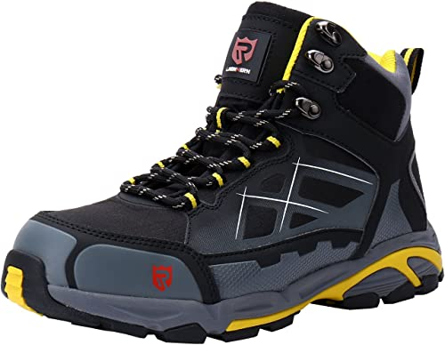 dba4aa096a9e0 LARNMERN Mens Work Safety Boots, Steel Toe SRC Casual Breathable Outdoor  Protection Trainers Industrial and Construction Shoes
