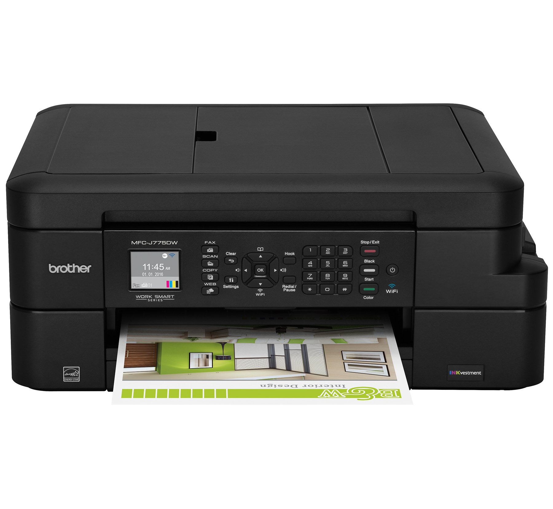 Brother Inkjet Printer, MFC-J775DW, Amazon Dash Replenishment Enabled by Brother
