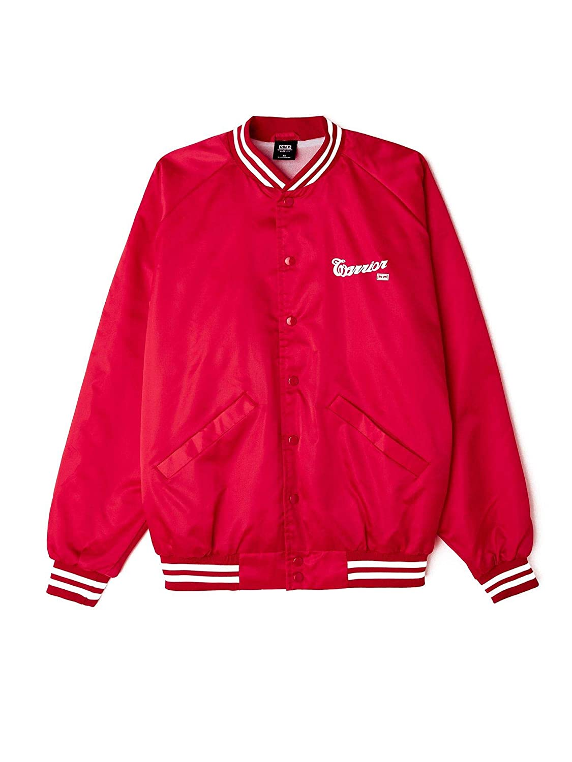 Obey Chaqueta Warrior X Satin Bomber Hombre Rojo M: Amazon ...