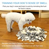 ALWOA Dog Snuffle Mat Slow Feeding Dog Play Mat Dog Nosework Training Blanket