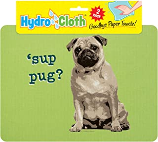 product image for Fiddler's Elbow Hydro Cloth Dog Breed Dishcloths | Set of 2 | Eco-Friendly Dish Cloths | Paper Towel Replacements (Pug)