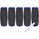 5 Pack Extra Coarse Rollers For Amope Pedi Refills Electronic Perfect Foot File Pedi Hard Skin Remover Refills Include a clean brush