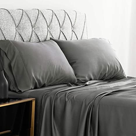 Super Soft Bedding Set with Bamboo Woven Material Cool /& Antibacterial Bamboo Home Queen Bed Sheets Set 6 Piece Set - Queen, Taupe