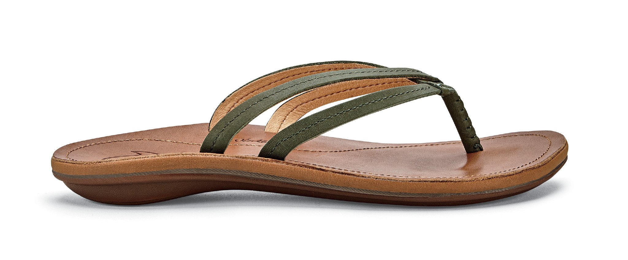 OLUKAI U'I Sandals - Women's Dusty Olive/Sahara 7