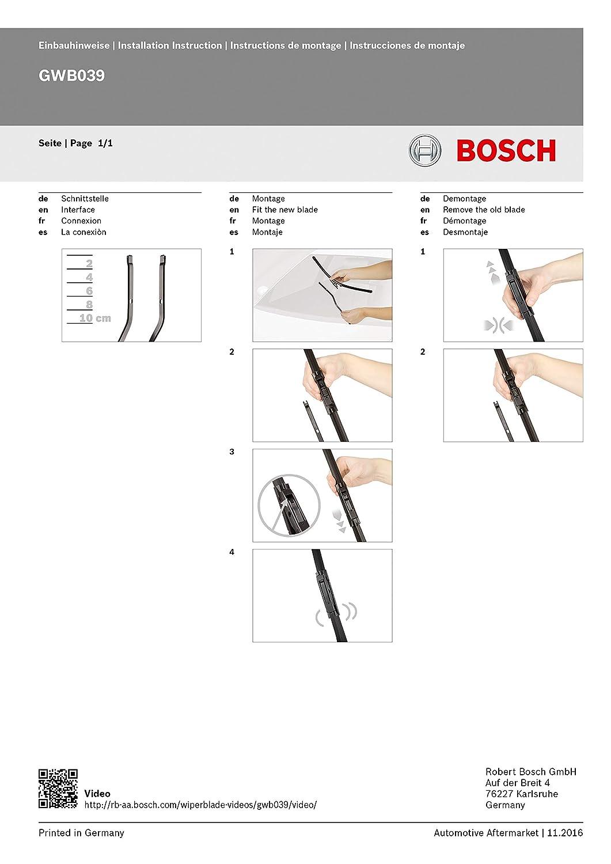 Bosch Aerotwin A116S - Limpiaparabrisas (2 unidades, 600 mm y 400 mm)