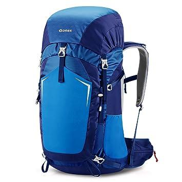Gonex 55L Mochila Plegable Trekking Senderismo Camping, Azul: Amazon.es: Deportes y aire libre