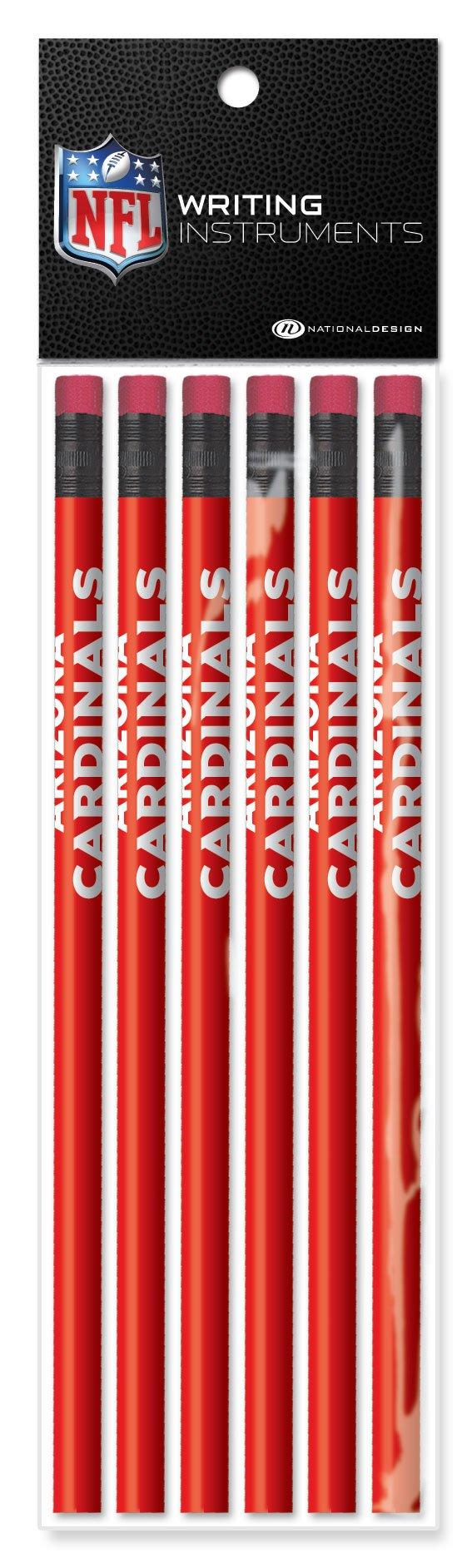 NFL Arizona Cardinals Pencils (6 Pack), Red