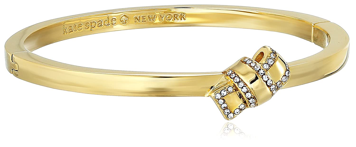 kate spade new york Pave Knot Hinged Bangle Bracelet kate spade jewelry WBRUE544921