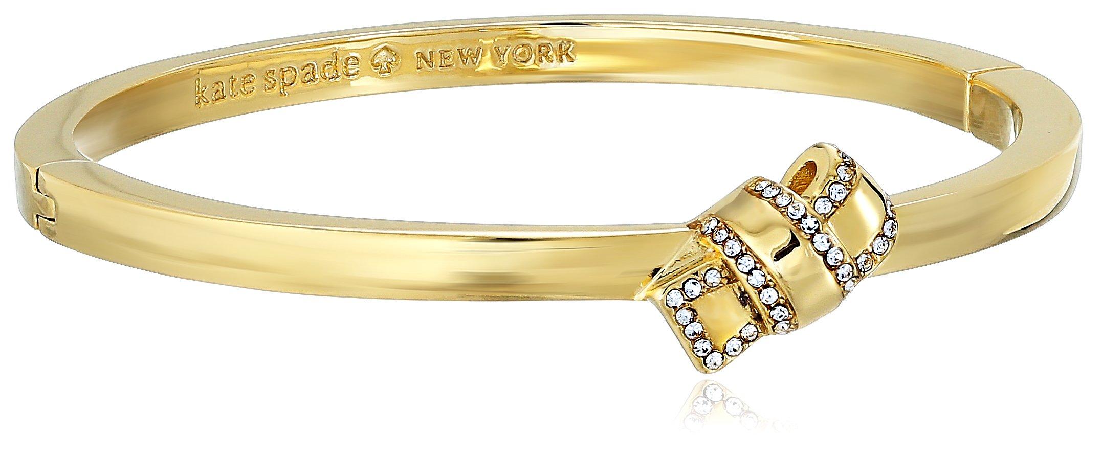 Kate Spade New York Pave Knot Hinged Gold Bangle Bracelet by Kate Spade New York (Image #1)