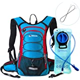 MIRACOL Hydration Backpack with 2L Water Bladder, Thermal Insulation Pack Keeps Liquid Cool up to 4 Hours, Prefect Outdoor Gear for Skiing, Running, Hiking, Cycling
