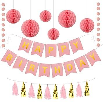Geburtstagsdeko Set Madchen Party Deko Kindergeburtstag Deko