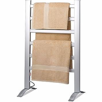 towel warmer rack. Knox Aluminum Towel Warmer Rack - Freestanding Or Wall Mountable 6 Bar Electric Warm Bath