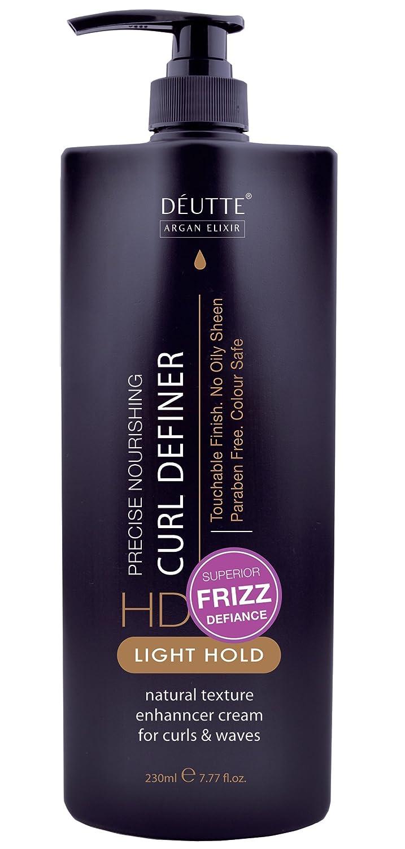 New DeUtte Argan Curl Definer Light Curl Cream for Curly Hair, 8 Oz