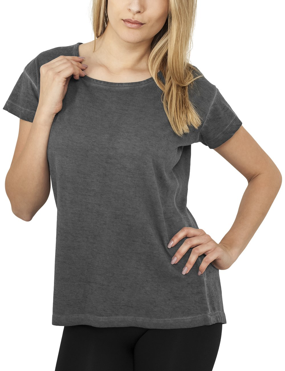 Urban Classics T-shirt da donna Ladies Long Spray Dye Tee