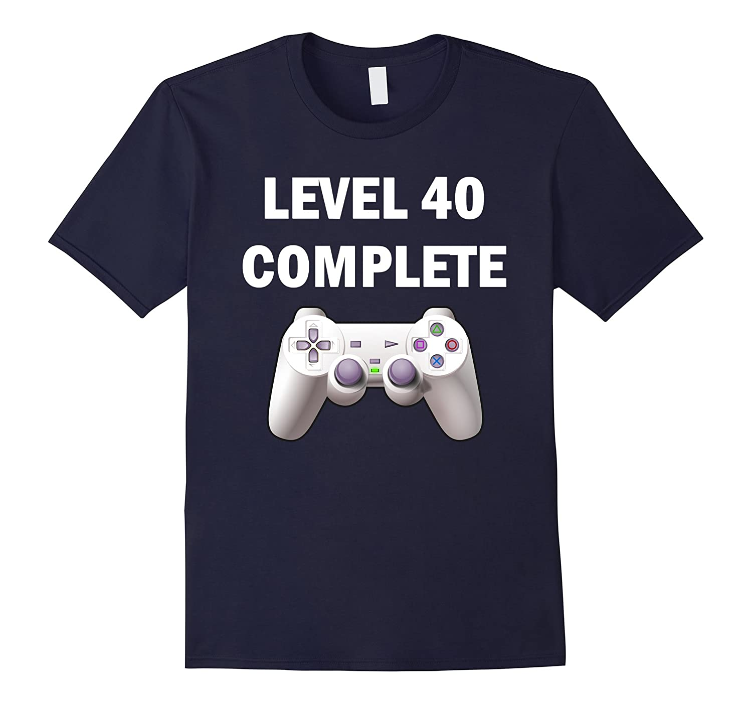 Level 40 Complete Funny Video Games 40th Birthday T-Shirt-TD