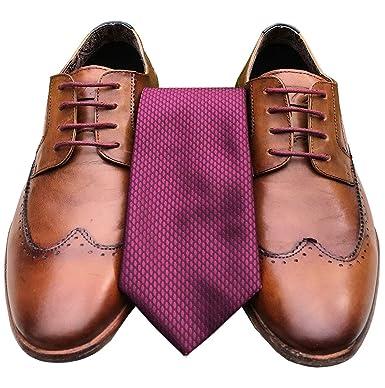 Reis of London Smart Laces Corbata para hombre, color burdeos ...