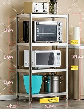 Estantes y soportes para ollas y sartenes HWF Estante de Cocina de 4 Capas de Acero