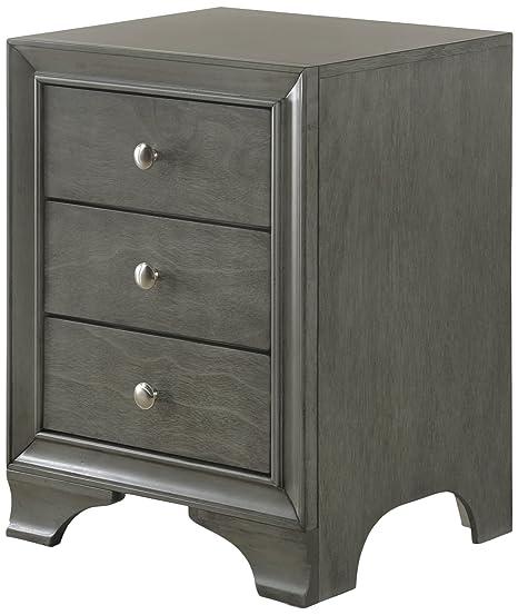 Amazon.com: Acme muebles 97494 Blaise mesita de noche con 3 ...