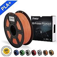 SUNLU 3D Printer Filament PLA Plus Orange (more like salmon),PLA Plus Filament 1.75 mm, Low Odor Dimensional Accuracy +/- 0.02 mm 3D Printing Filament,2.2 LBS (1KG) Spool 3D Printer Filament for 3D Printers & 3D Pens,Orange (more like salmon)