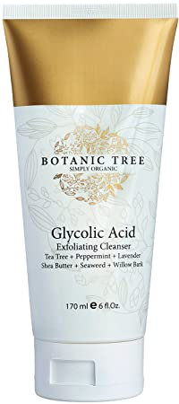 Glycolic Acid Face Wash Exfoliating Cleanser 6 Oz W/10 Percents Glycolic Acid, And Aha For Wrinkles And Lines Reduction Acne Face Wash For A Deep Clean 100 Percents Organic Extracts W/Tea Tree,Shea Butter,And... by Botanic Tree