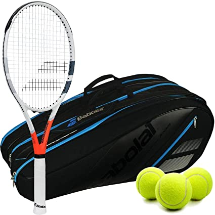 "Babolat Strike Game Tennis Racquet (4"" Grip) Kit or Set Bundled with a"