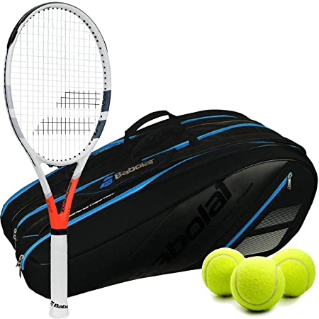 Amazon.com : Babolat Strike Game Tennis Racquet Kit or Set Bundled with a Babolat Team Tennis Bag and 1 Can of 3 Tennis Balls : Sports & Outdoors