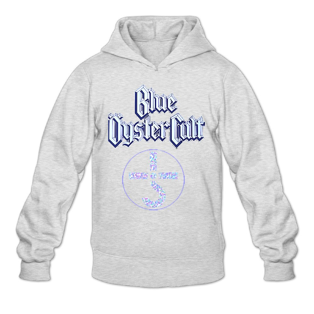 GOOOET Mens Blue Oyster Cult Logo Hoodies