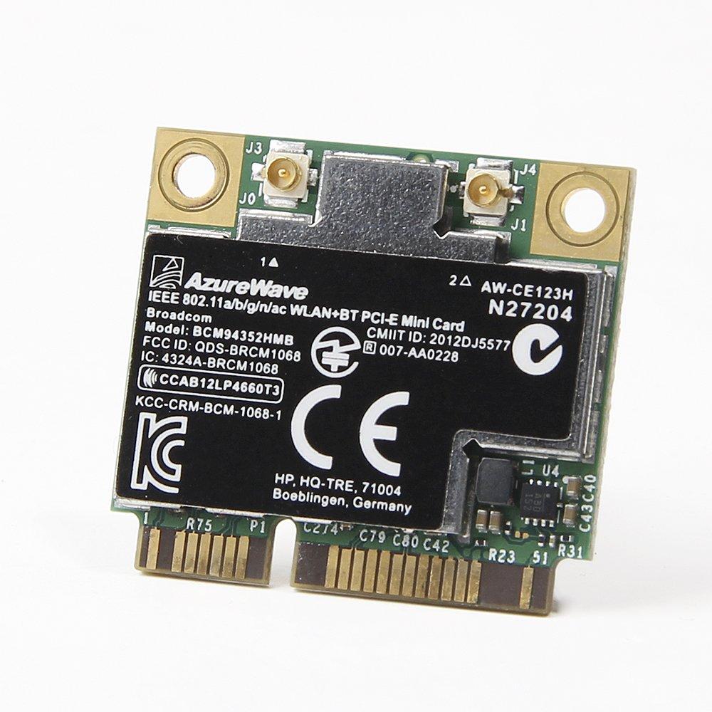 724935-001 HP Broadcom 4352 802.11ac Wi-Fi Bluetooth 4.0 WLAN Adapter 5G WiFi 2-Stream 867 Mbps by Huasijie