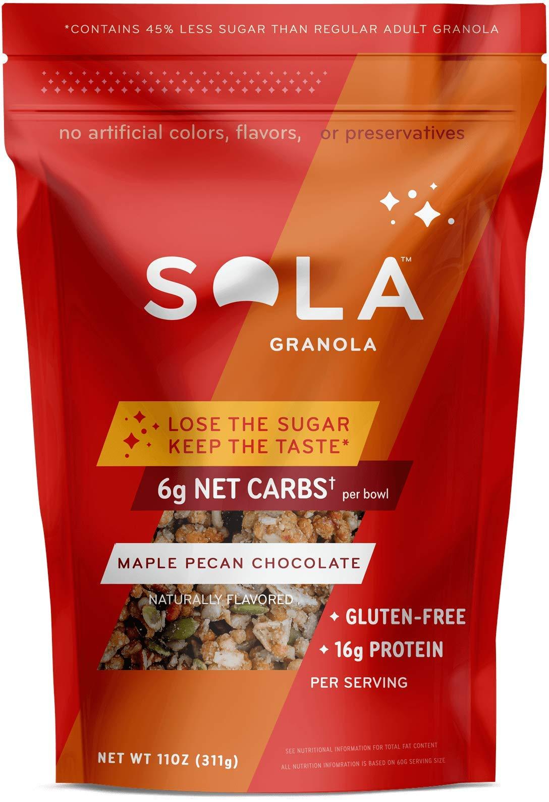 SOLA Maple Pecan Chocolate Granola, 11oz