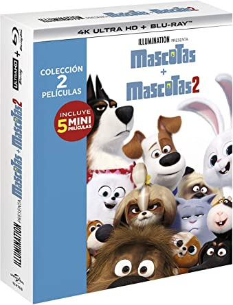 Pack: Mascotas 1+2 (4K Ultra HD + BD) [Blu-ray]: Amazon.es: Patton Oswalt, Kevin Hart, Harrison Ford , Chris Renaud, Jonathan del Val, Patton Oswalt, Kevin Hart, Universal Pictures, Illumination Entertainment, Dentsu: Cine